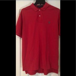 Polo Ralph Lauren short sleeve red polo shirt sz M